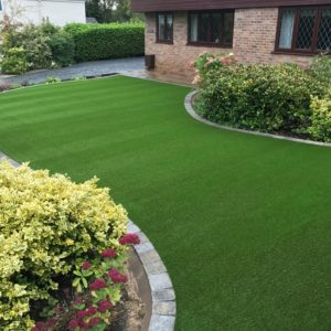 Front Artificial Grass Lawn