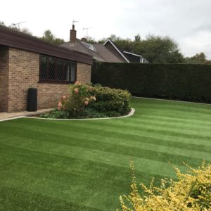 Large synthetic lawn
