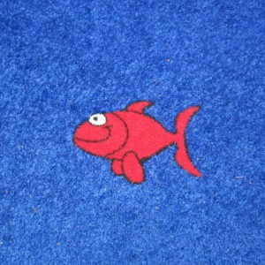 Red Artificial Grass Fish