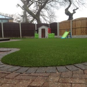 Small curved lawn