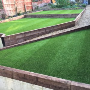 Sleeper Levelled Lawn