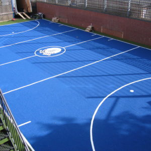Blue Artificial Pitch at London School